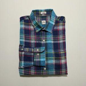 Peter Millar Men's Long Sleeve Linen Shirt Large